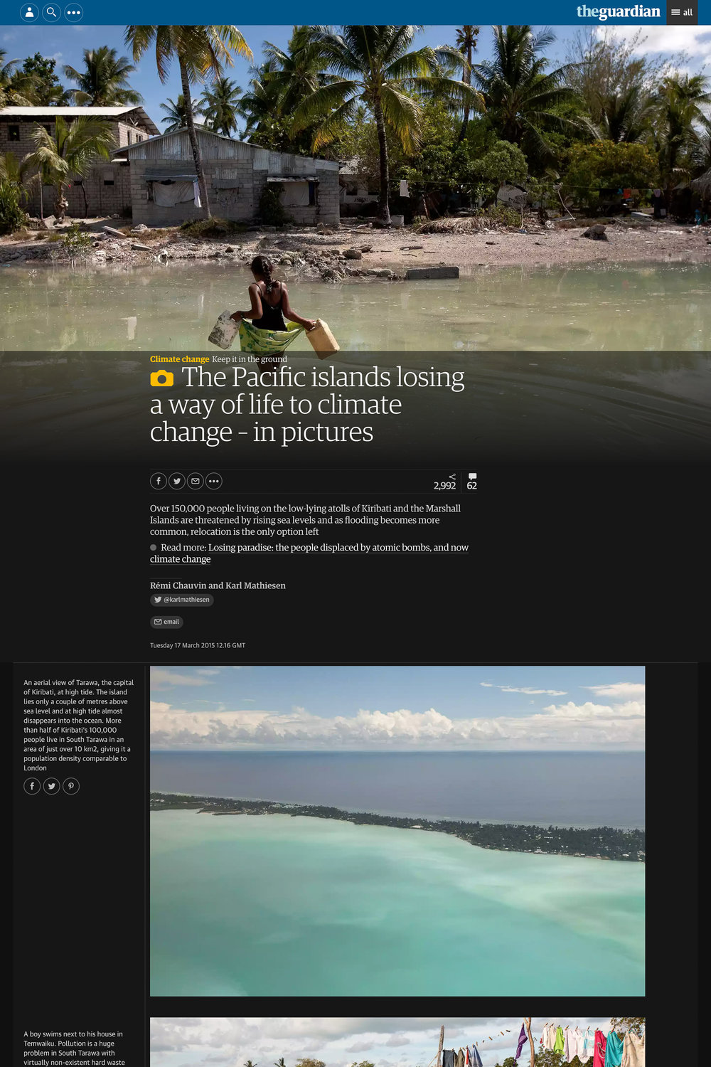 Pacific Islands Climate Change - The Guardian