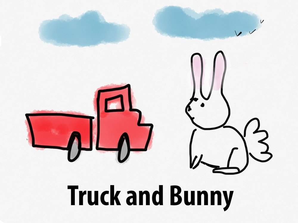 Truck and Bunny by Stephanie Mackley, 2016