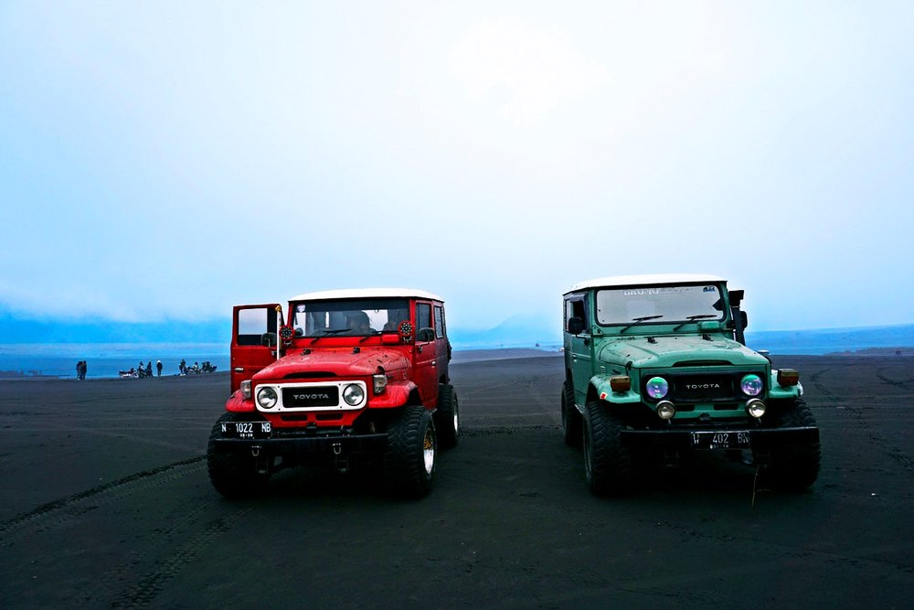 The jeeps we used to get around