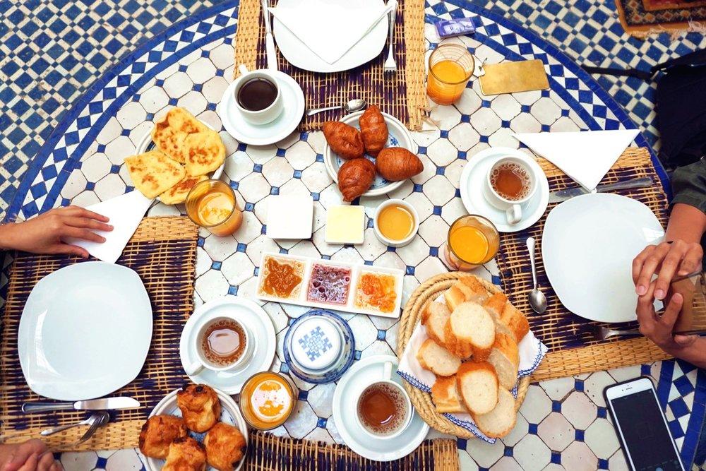 Riad Zamane Fes - Breakfast