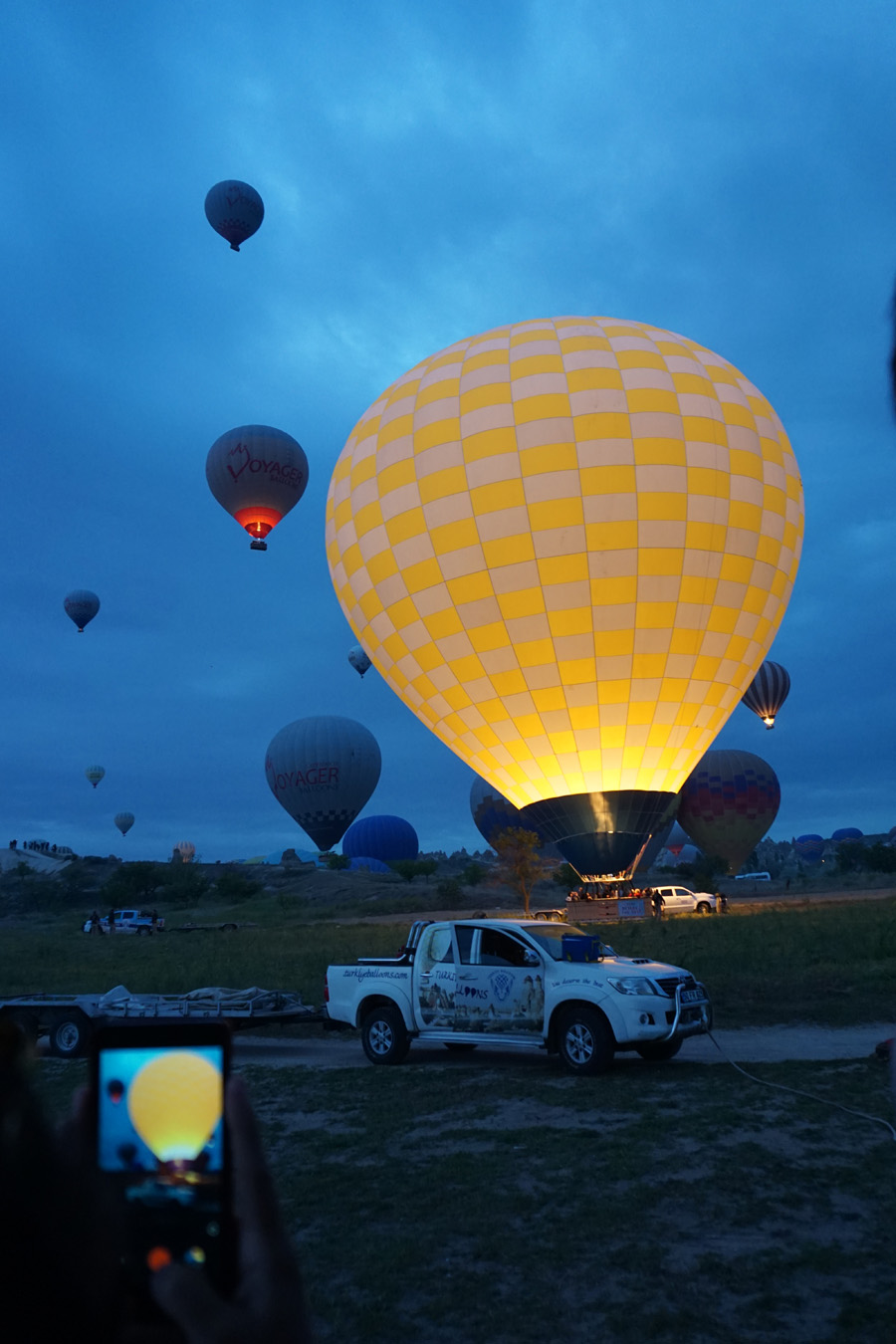 Balloons in the Dawn