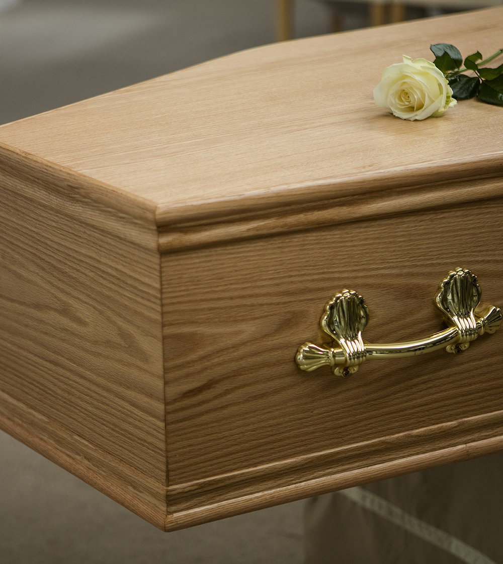 Low Cost Funerals  - We understand that a funeral often presents unexpected costs. We offer a simple funeral service option on the condition that it is carried out on a weekday at a time of our choosing. This option includes hearse, pallbearers and a simple coffin, removal of the deceased from the place of death to the funeral, and to then to the cemetery or crematorium. The price for this funeral service is €1,550.This option does not include extra charges, such as removal of the deceased to our funeral home, care or presentation of the body, or limousines.All third party fees, such as those for flowers, the cemetery,or crematorium fees, will be added to our service charge.Payment terms are 30 days.