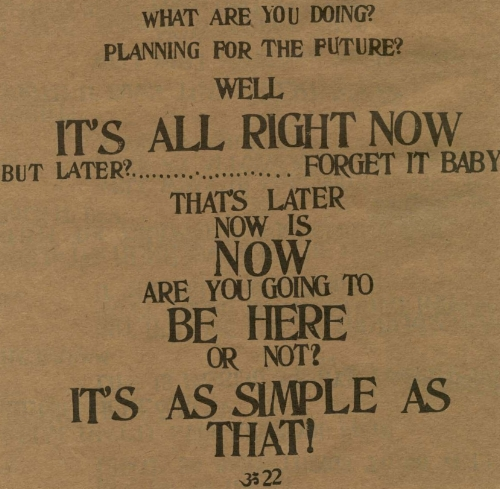 """""""Be Here Now"""" - By Ram Dass"""