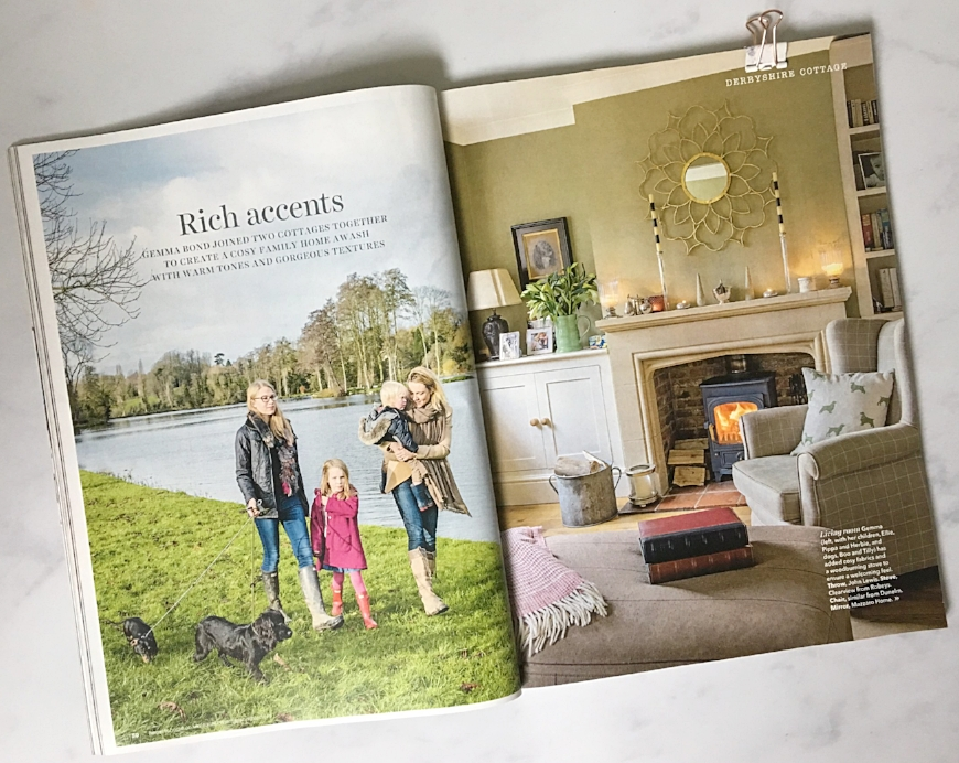 Example of profile/feature coverage - 'at home' with the owners of an interiors company
