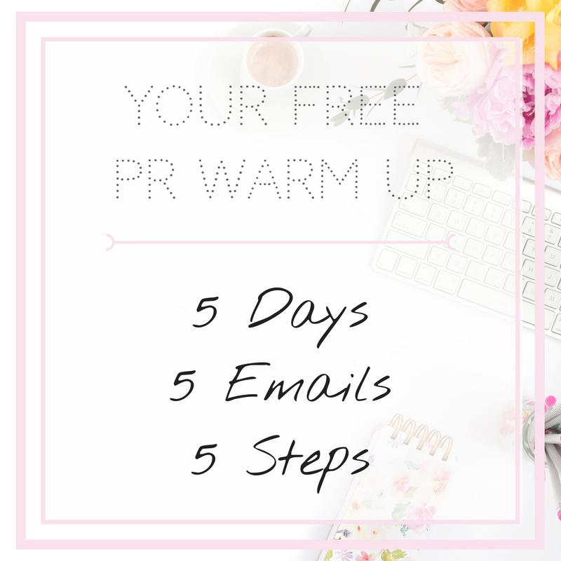 PR Warm Up - 5 Days 5 Emails 5 Steps