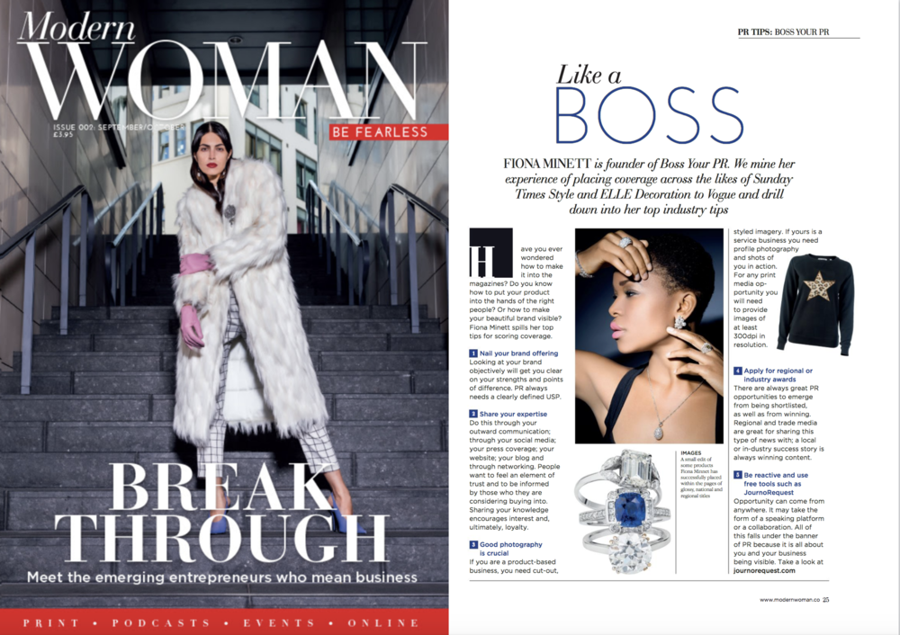 Modern Woman Magazine PR Article Boss Your PR