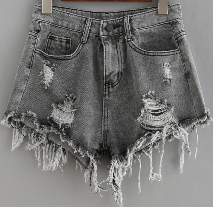 Grey denim shorts - Romweromwe.com15 Eur