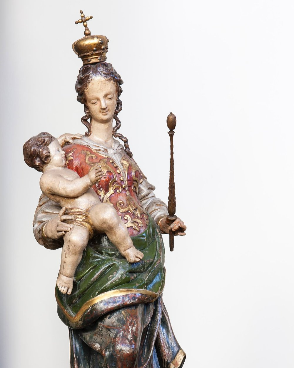 Our Lady and the Infant Jesus - This statue is believed to be Bavarian and to have been carved in the late 18th century.