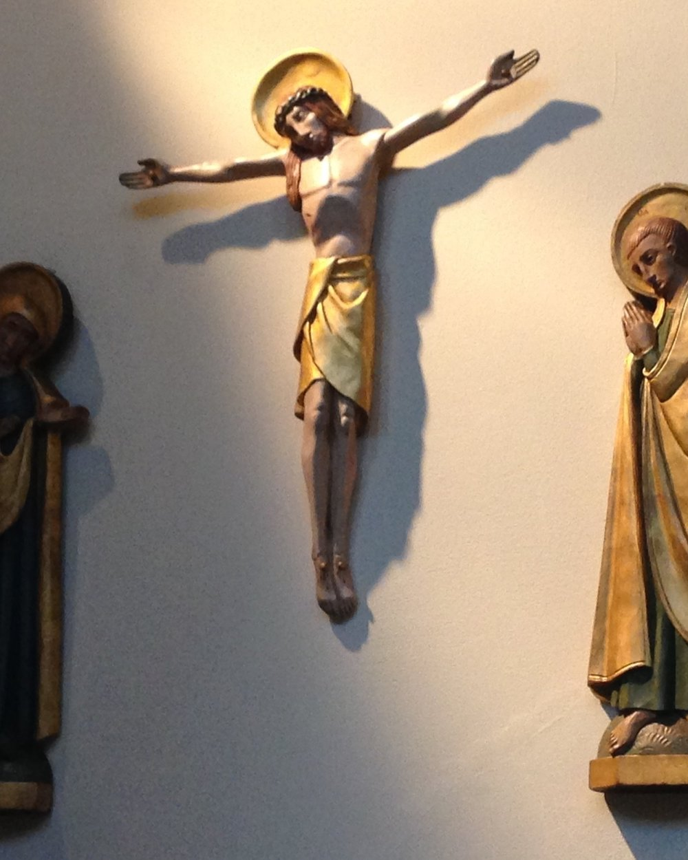 Calvary - This Calvary scene was presented to the church by local artist Mr. Purnell.