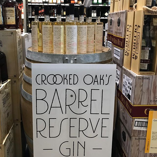 We just installed this new retail display @totalwine in Everett! Our third batch of Barrel Reserve Gin is available at all 4 Total Wine and More locations in Massachusetts #gin #craftgin