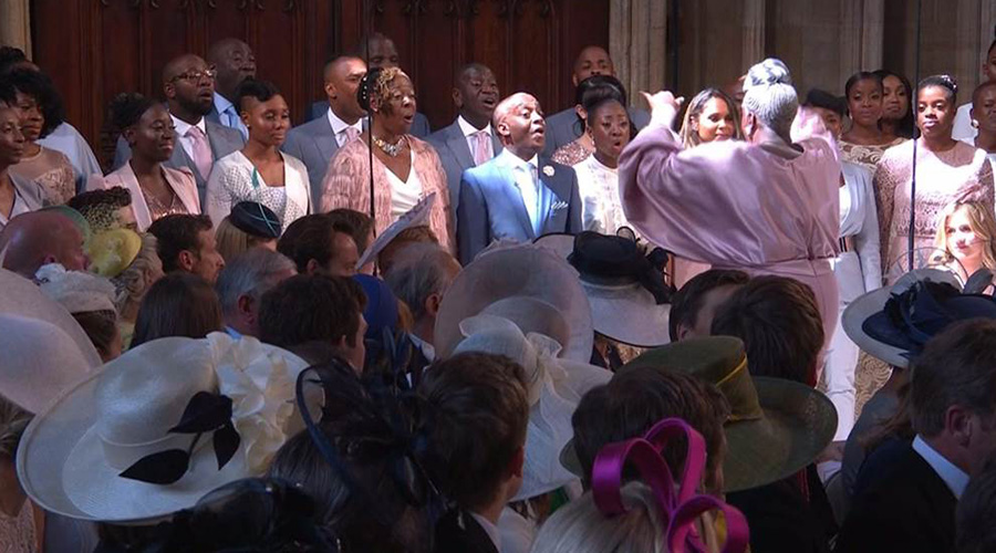 The Kingdom Choir sings at the royal wedding on May 19, 2018