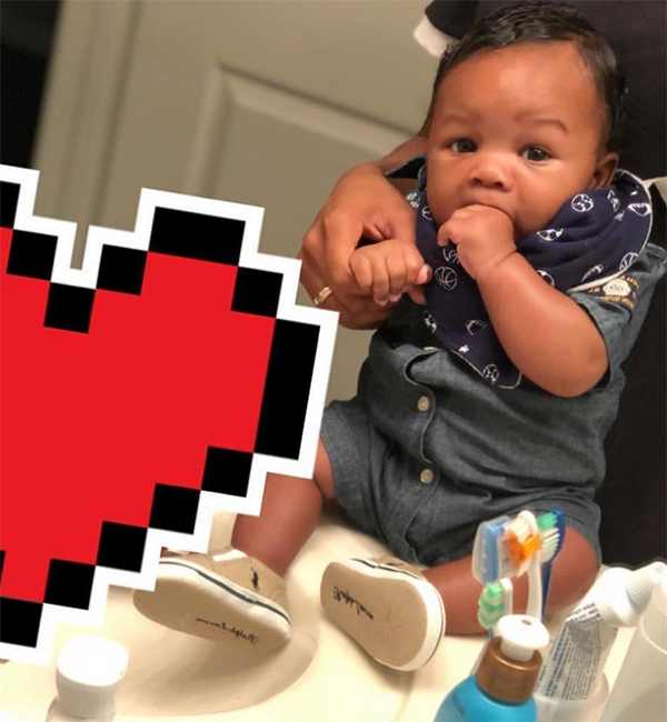 Hey lil' man! Rhea's son, Zyon, is the cutest decked out in his Polo (Photo Credit: Instagram)