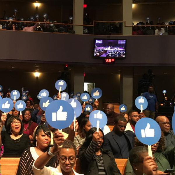 Bishop Walker and his church, Mt. Zion, teamed up with Facebook (Photo Credit: CBN)