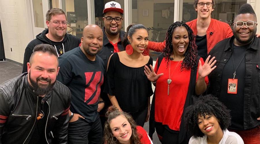Christian singer Mandisa exudes joy on tour with her band