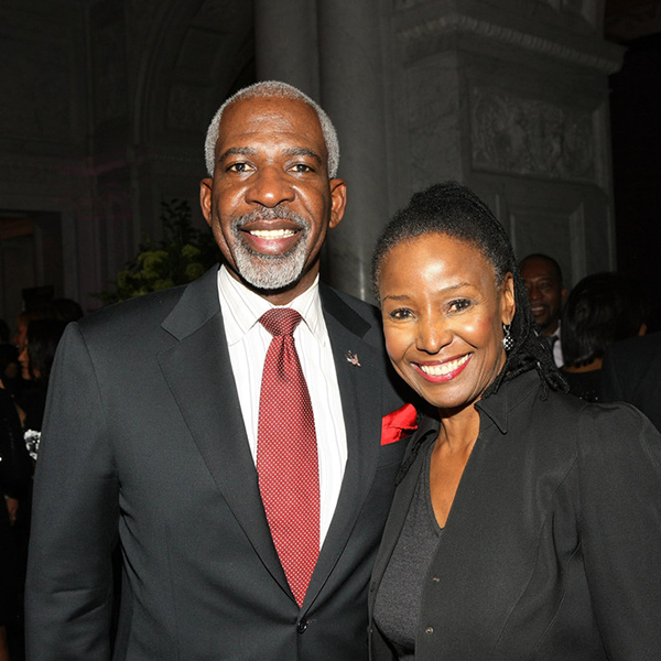 Dan Gasby and B. Smith attend BET Honors 2013 , the year of her diagnosis (Credit: Bennett Raglin/Getty )