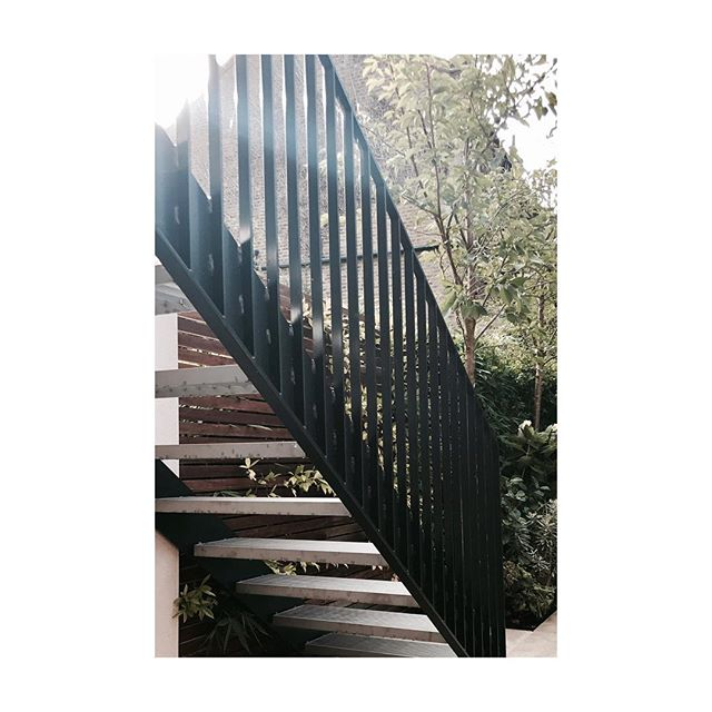 Bespoke external staircase that leads from the balcony into the garden #stairs #staircase #garden #nature