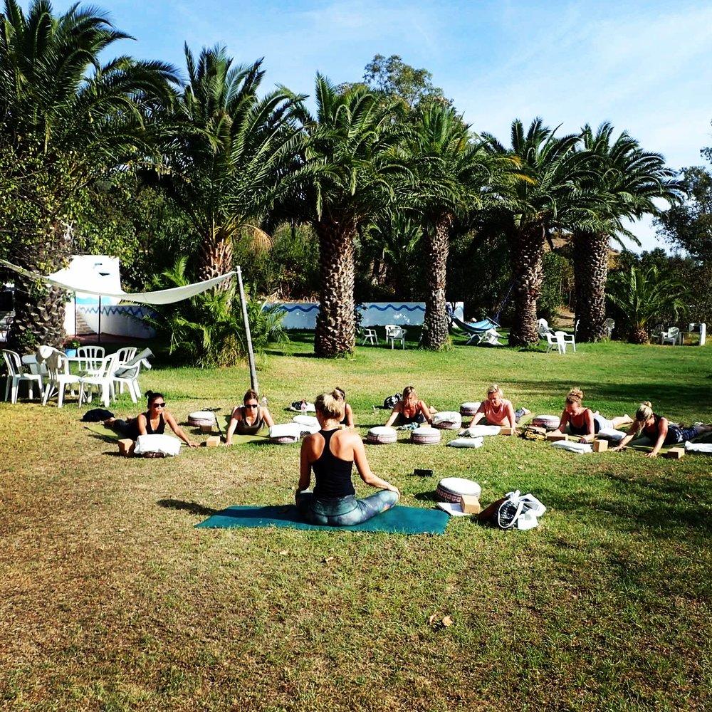 Teaching yin session at Viva la Vida retreat