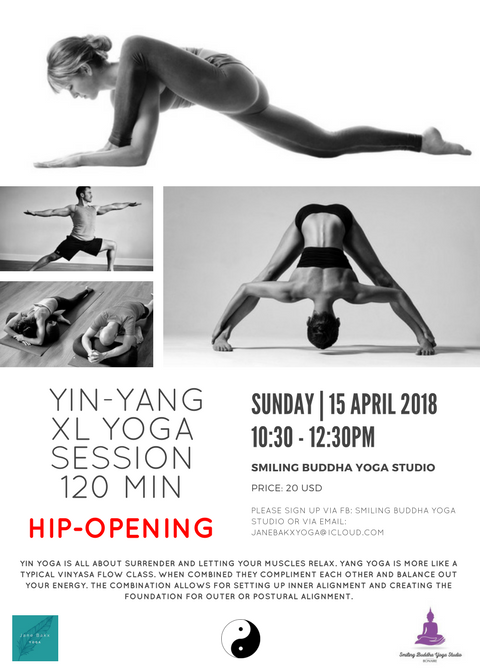 Yin-Yang XL yoga session 15 April
