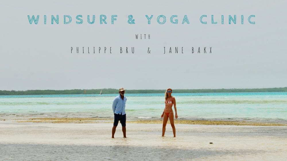 Windsurf & Yoga clinic Philippe & Jane
