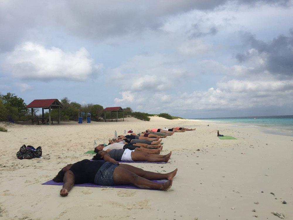 Savasana on Klein Bonaire