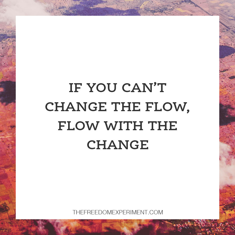 Changewiththeflow