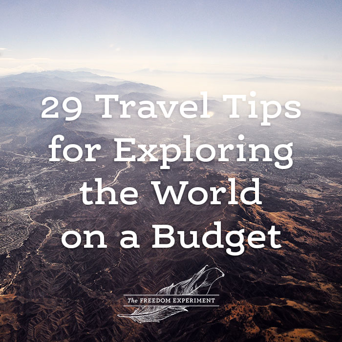 Exploring the World on a budget