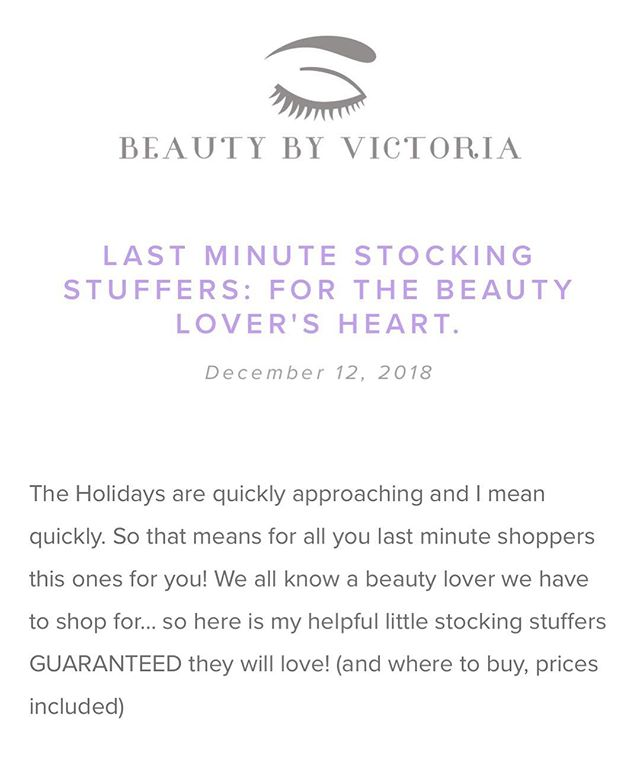NEW BLOG! (Link in bio) • My personal guide to the best stocking stuffers for your beauty obsessed friends/ family! • Happy Shopping & Happy Holidays🎄🎁