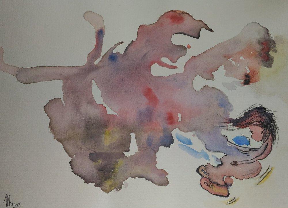 fly away_mei shapiro art | watercolor