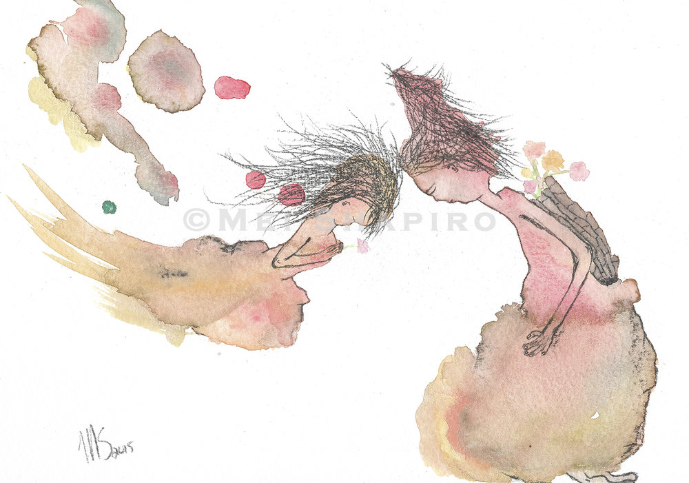 mei shapiro art watercolour i love you little one