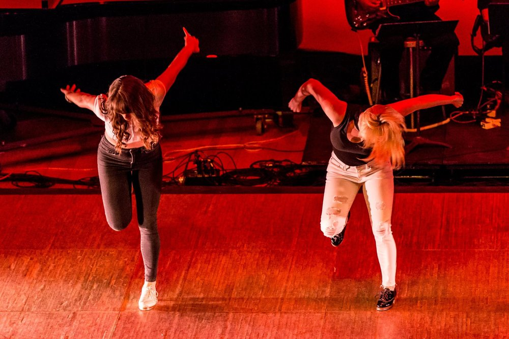"Jenna Roe and Robin Passmore in ""Needed Me"" at the DC Tap Fest 2017 Concert"