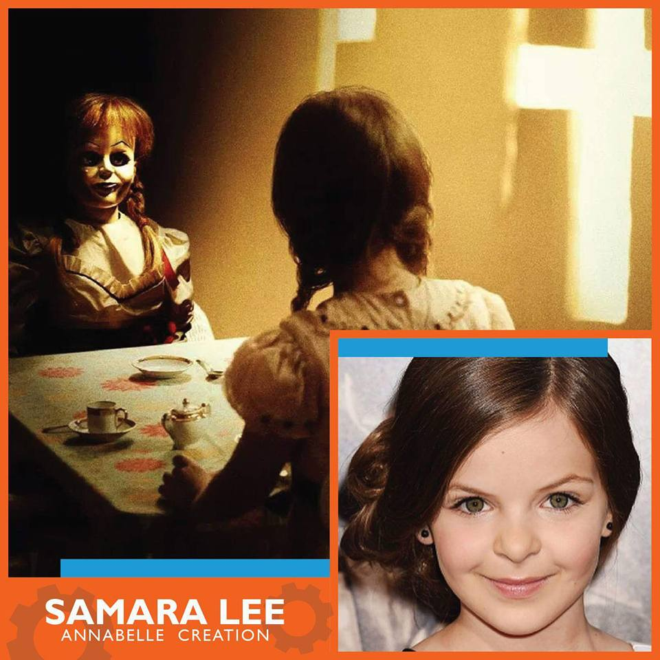 Samara Lee   - Horror Fans Get Geek'd! We are proud to bring you our next Media Guest exclusively at GET GEEK'd Entertainment Expo for the first time at a Michigan Convention known for her role as Annabelle herself