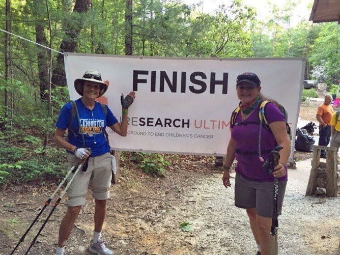 Stacy Thompson of Bluestein Nichols Thompson & Delgado, LLC   Stacy Thompson and her mom took on the Ultimate Hike in 2016, finishing 28.3 miles on the Foothills Trail in one day while raising money for children's cancer research. This mental and physical challenge for a great cause also became the 'Mother of all Bonding Experiences' for the Thompson duo!