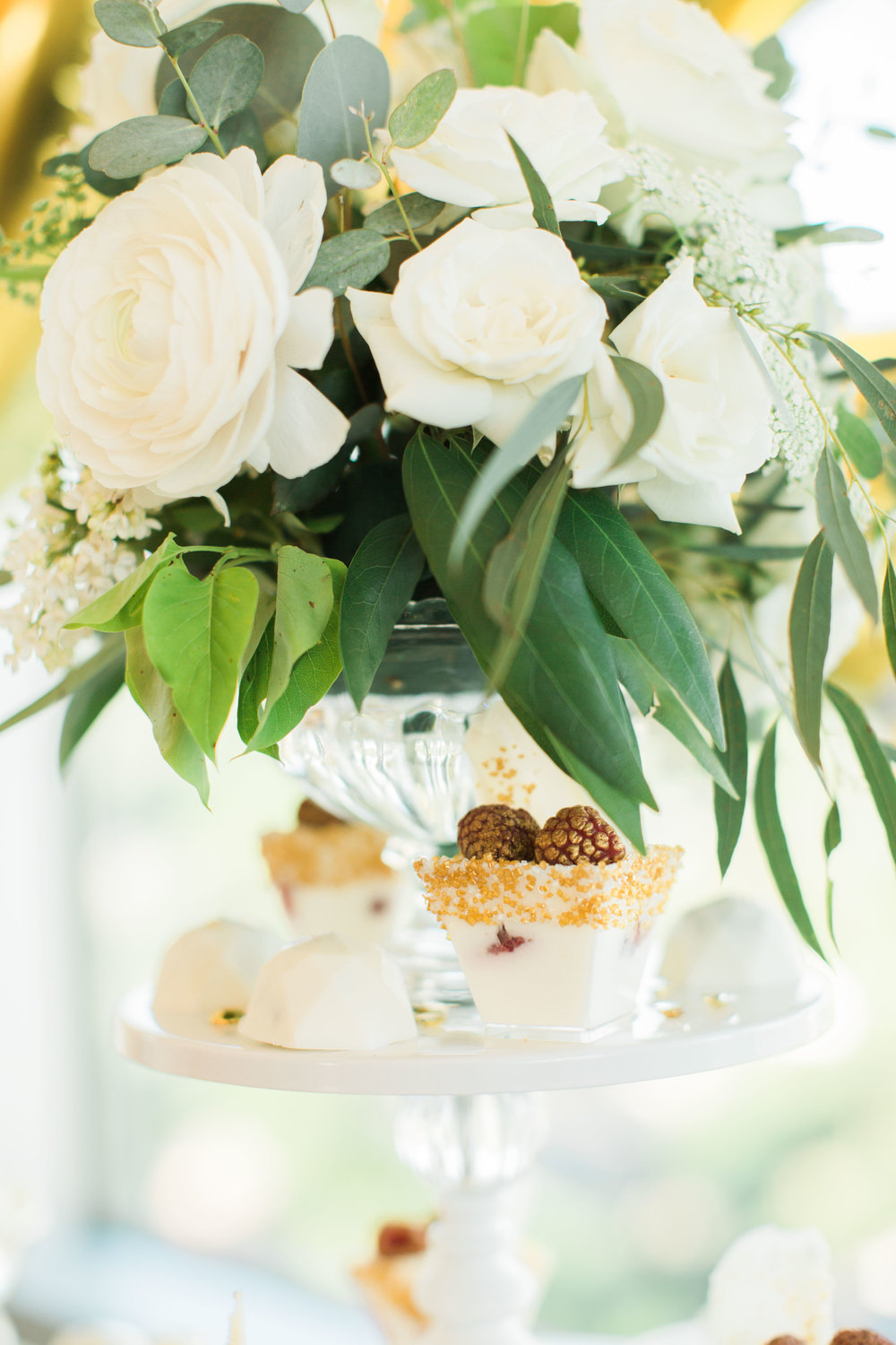 White Ivory Garden Style Arrangement Lovely Soiree Floral Designs in Houston, Texas
