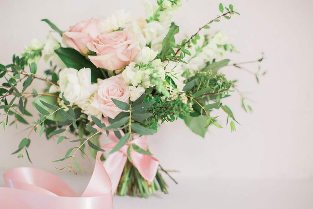 Blush Bridal Bouquet Lovely Soiree Floral Designs in Houston, Texas