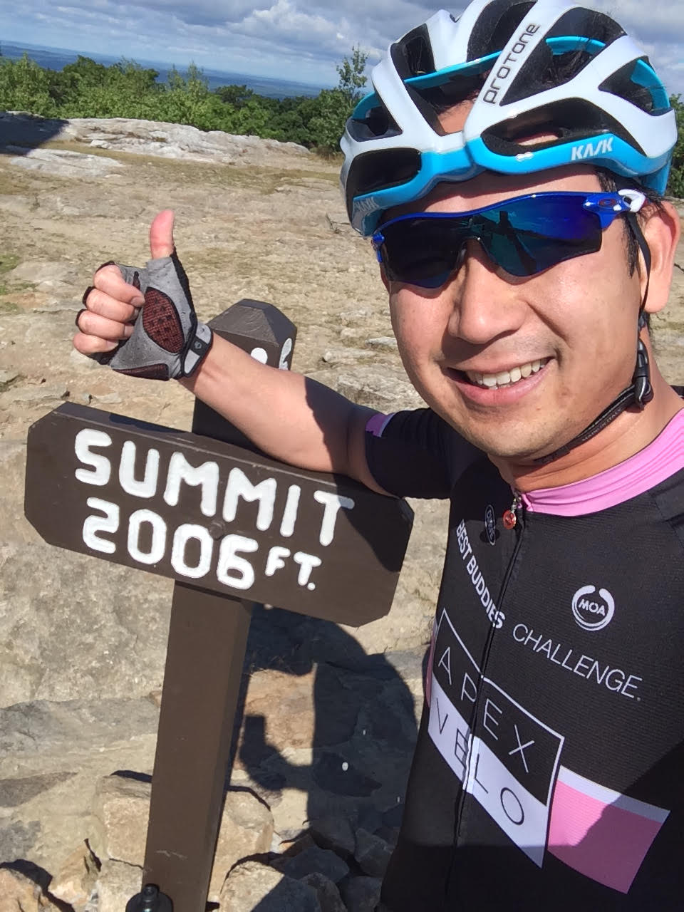 Ride to the top of Mt. Wachusett - training for the Best Buddies Challenge