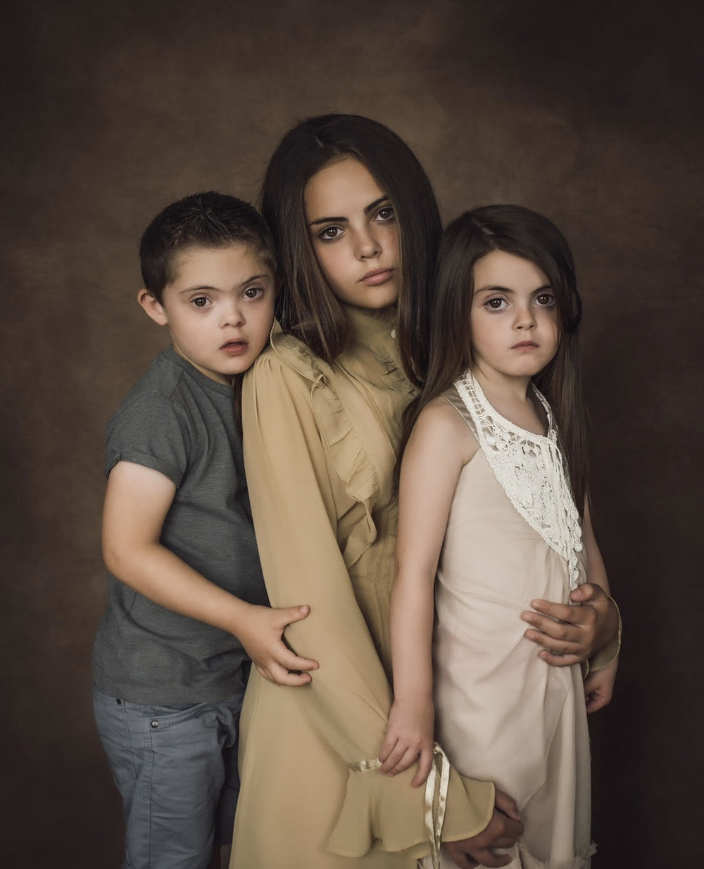 Isabella, Lucus and Indiana - on a fine art shoot (they aren't meant to smile)