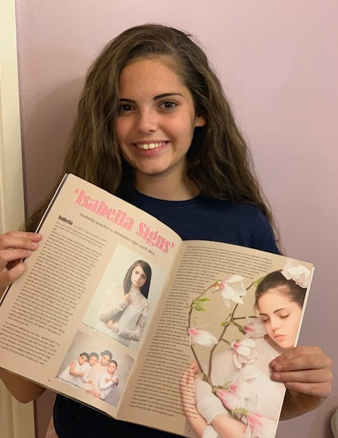 Isabella Signs featured in a model magazine