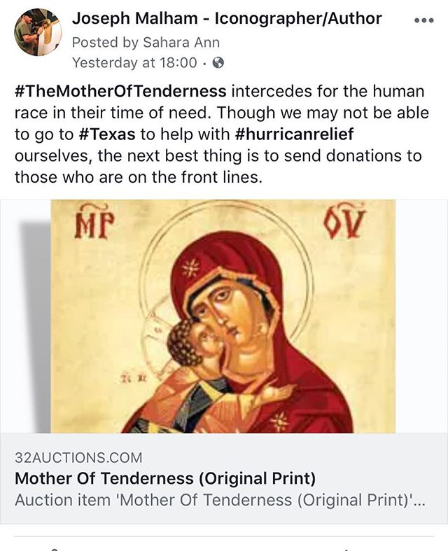 We are #auctioning off Joe's #MotherofTenderness to raise money for the #victims of #hurricaneharvey . Follow the link to find out more: https://www.32auctions.com/organizations/34906/auctions/42283/auction_items/1080877