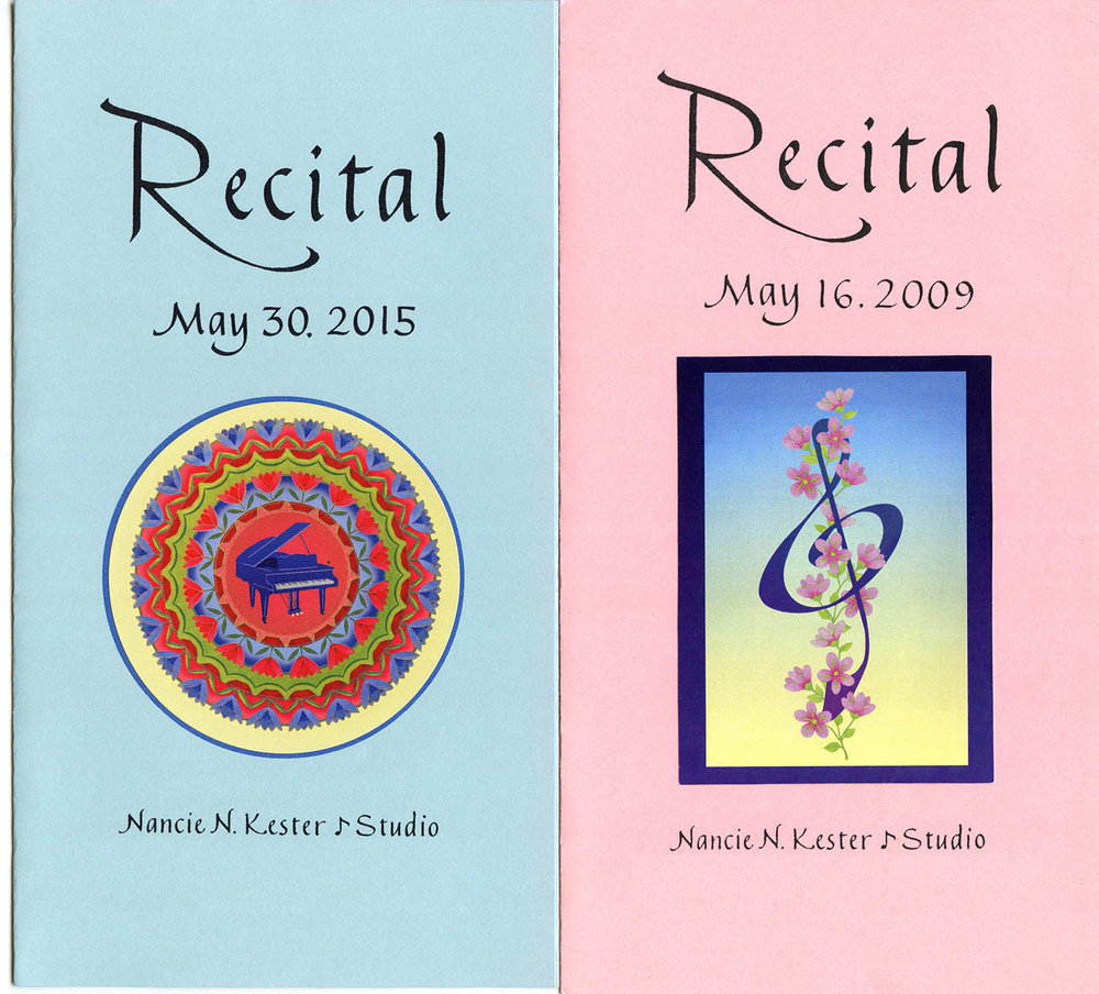 Nancie Kester Piano Recital Programs