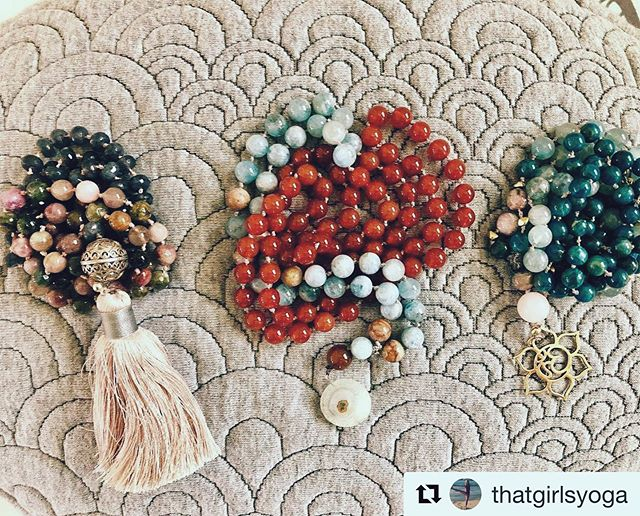MALAS + MANTRAS + MEDITATION 🧘🏻‍♂️📿 . . Workshop Description 💡: Join Cindy Shapiro (@thatgirlsyoga) for a fun filled afternoon handcrafting a Mala necklace and practicing the ancient art of Mantra and Meditation. You'll explore how Mantras (a word or sound repeated to aid concentration and meditation) affect our practice and learn how to incorporate the use of Mala in our Meditation practice to create a deep sense of relaxation. . . 📆: Saturday, January 19th . ⏱: 2:00-4:00 PM . 📍: @orangecountyyoga studio (plenty of parking available) . 💵: $65 (includes all materials for mala construction) . 💬: Register through our profile link or at http://www.ocyogastudio.com/workshops-series/
