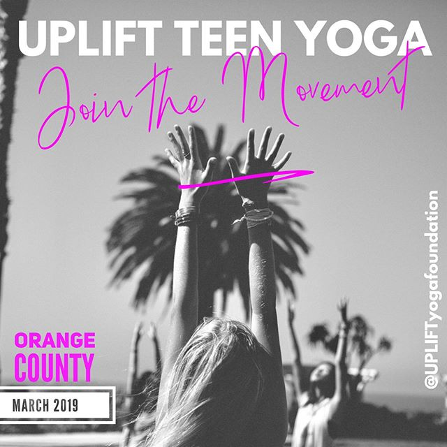 """🦋 Starting this Friday, March 1st, @upliftyogafoundation is offering their 8 Week Series """"Awaken and Connect"""" here @orangecountyyoga studio. . UPLIFT Teen Yoga's donation-based 8 Week Series is a movement of young women discovering their inner power & peace through yoga, mindfulness and compassion. With the support of mentors, teen girls will have the chance to grow and bond with like-minded peers... Interested? You can connect your daughters, neighbors and friends to @UPLIFTyogafoundation so they can reserve their spot TODAY! 🧘🏽♀️🧘♀️🧘🏻♀️🧘🏿♀️ . Testimonial: """"When telling my friends, I just tell them that they haveto experience UPLIFT for themselves. To see how much it improves your emotions, your positivity, your outlook."""" - UPLIFT Teen 💜"""