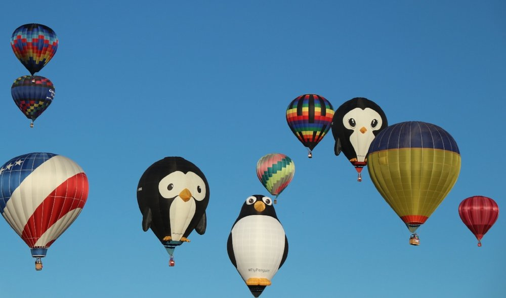 The three penguins! (On my list of favorite balloons)