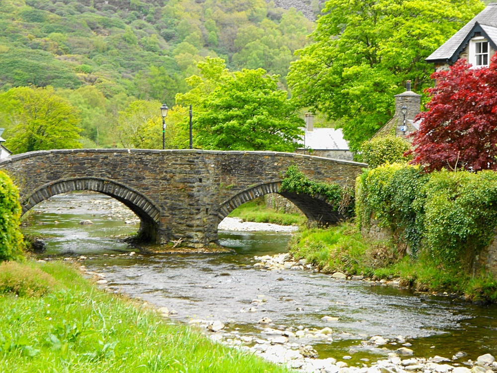 The famous picturesque bridge in Beddgelert