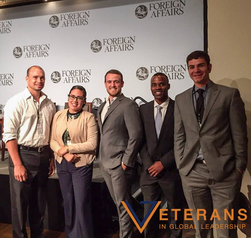 2015 Veterans in Global Leadership Fellows at a networking panel event sponsored by CFR