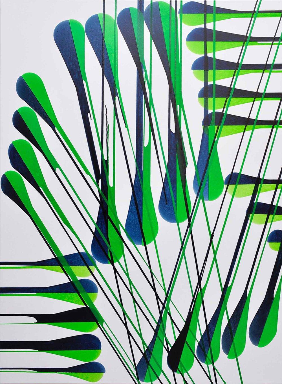 JARDIN DES PLANTES MONTPELLIER, 2017  Acrylic on canvas 150cm x 110cm x 4cm