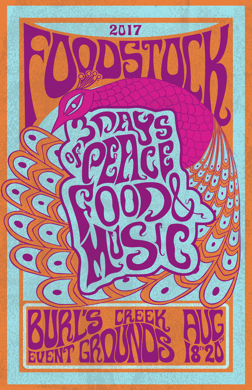 FOODSTOCK, 2017 Digitized Hand-Drawing & Hand-Lettering