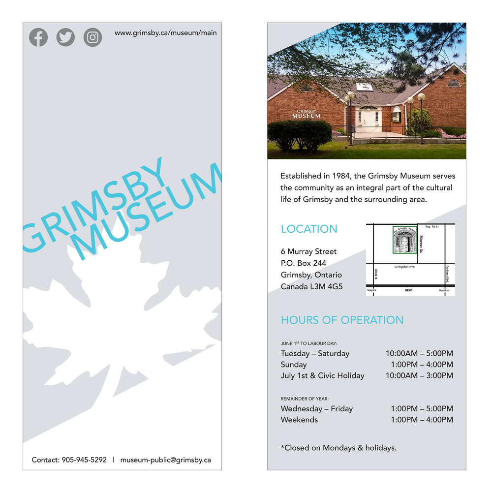 GRIMSBY MUSEUM RACK CARD, 2017 Digital Commissioned by The Grimsby Museum