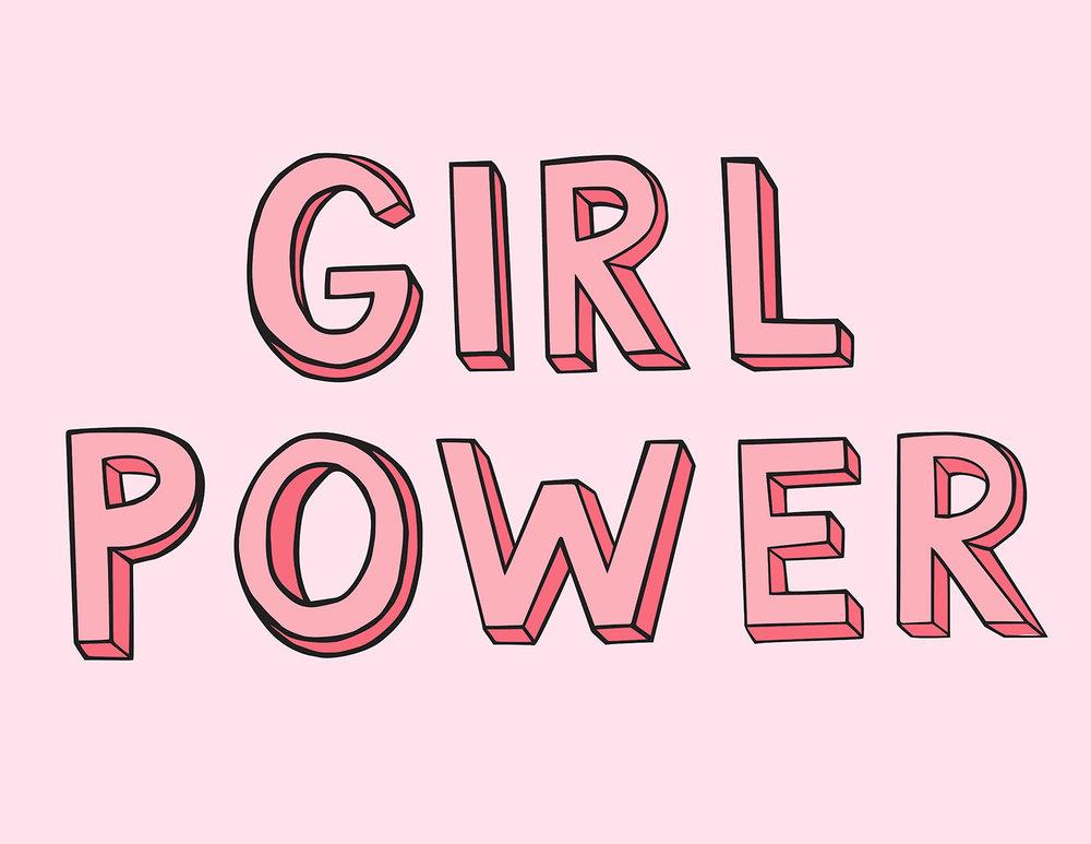 GIRL POWER, 2017  Digitized Hand-Lettering