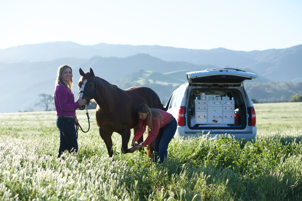 Dr. Lisa Teske with Alamo Pintado Client, Noletta, in Santa Ynez, California