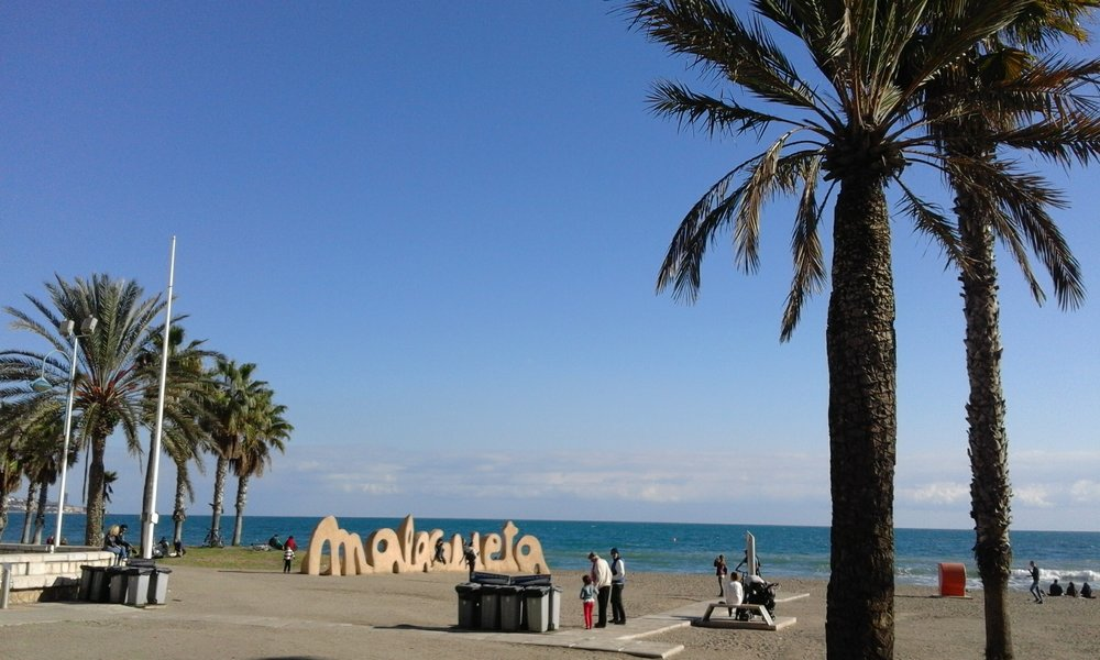 La Malagueta beach is located right in the city center